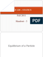 Equilibrium of a Particle Lecture Notes