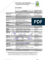 Programacion Pastoral 2012