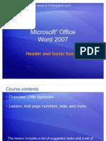 Word 2007 - Header and Footer Basics
