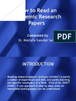 How to Read an Academic Research Papers