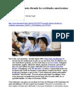 Le modèle chinois ébranle les certitudes américaines