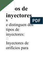 Tipos de inyectores