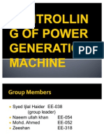 Controlling of Power Generation Machine