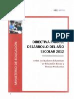 Directiva Inicio año 2012