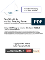 Snort Intrusion Detection Modbus Tcp Ip Communications 33844