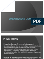 DASAR-DASAR DEMOGRAFI