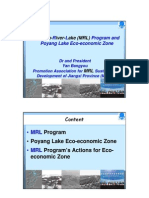 Mountain-River-Lake Program and Poyang Lake Eco-Economic Zone