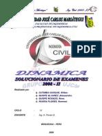 Resolucion de Examenes DINAMICA  2008-II