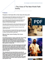 Hubpages.com-From God Comes the Voice of the New World Faith of God Jesus Humanity