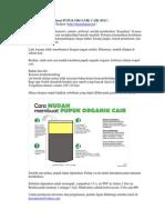 Cara Mudah Membuat Pupuk Organik Cair (Poc)