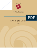 AAA Style Guide