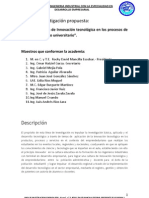 Linea de Investigacion Academia Ingenieria Industrial 2011