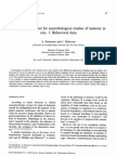 A New One-trial Test for Neurobiological Studies of Memory in Rats_I_Behavioral Data