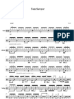 Tom Sawyer by Rush Drum Set FULL Sheet Music