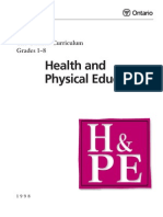 The Ontario Curriculum - Health and Physical Education
