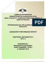 Candidates' Performance Report
