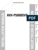 Avh-p5000dvd Installation Manual en Fr de Nl It Es
