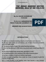 """Mergers in Indian Banking Sector-The legal framework, Role of RBI vis-avis role of CCI"""