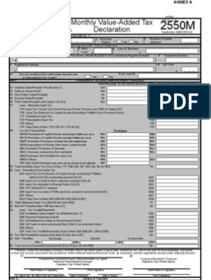 New Form 2550 M - Monthly VAT Return p 1-2(1) | Value Added Tax