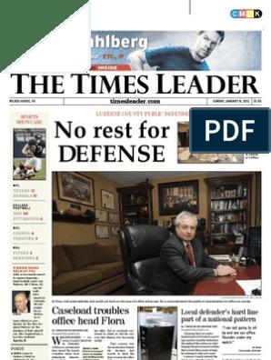 Times Leader 01-08-2012 | Hamid Karzai | Afghanistan