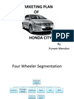 Marketing Plan-honda City