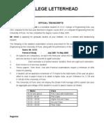 Transcript Format