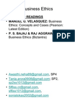 Business Ethics Content