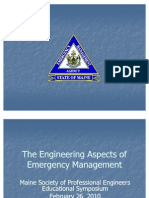 Engineering Aspects of Emergency Management MeSPE 26 Feb