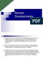 Recent Developments in Rural Finance
