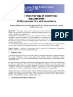 On Line Monitoring of Electrical Equipments -Utility Perspective and Experience Final Paper- S Naved Masood