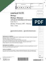 Edexcel u 01 Jan 2005 (6101) Qp