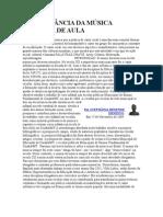 A IMPORTÂNCIA DA MÚSICA NA SALA DE AULA