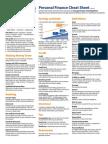 Personal Finance Cheatsheet