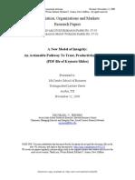 A New Model of Integrity (2009) Jensen- Erhard