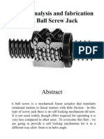 Design Analysis and Fabrication of a Screw Jack