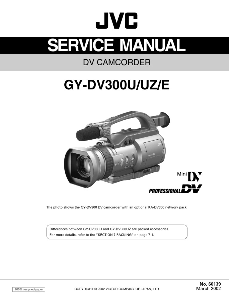 Jvc Manual Pdf Kd G220 Wiring Diagram Gs727 Service Download Array Gy Dv300u Uz E Training Electrical Connector Rh Scribd Com