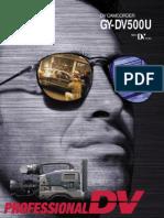JVC GY-DV500U (MiniDV) Technical Brochure