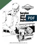Briggs And Stratton Vangaurd 16 18 20 Hp Vertical 303700 Service Manual Carburetor Rotating Machines