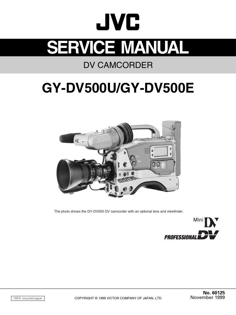 JVC GY-DV500U DV500E Service Training Manual | Electrical Connector |  Insulator (Electricity)