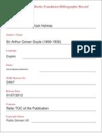 The Return of Sherlock Holmes Bibliographic Record