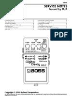 Boss DD-7 Service Notes