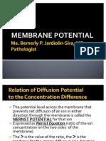 Membrane Potential [Gen Physio]