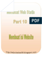 Part 10 Membuat Isi Website
