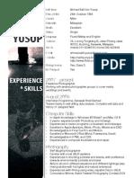 Ahmad Safri Yusop - Resume