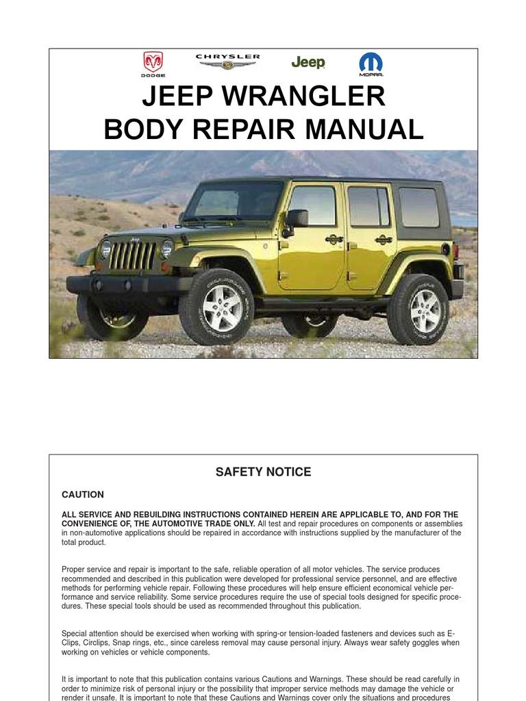 jeep wrangler jk 07 10 body repair manual rh scribd com 2017 Seat Exeo Seat Leon