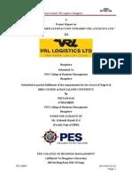 project on customer satissfaction in vrl logistics