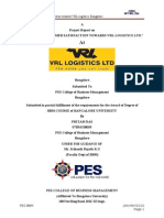 project on customer satissfaction in vrl logistics