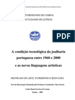 Joalharia Portuguesa 1960 a 2000 17991 Tese Mestrado ArtePR CARLA CARMO