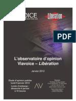 Viavoice Libération. Janvier 2012