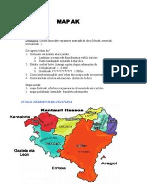 Euskal Herriko Mapa Politikoa.Mapak Eta Paisaiak Aztertzen